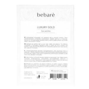 bebare luxury gold eye patches